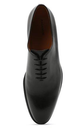 Мужские кожаные оксфорды MAGNANNI черного цвета, арт. 15887/WIND | Фото 5 (Материал внутренний: Натуральная кожа; Стили: Классический)