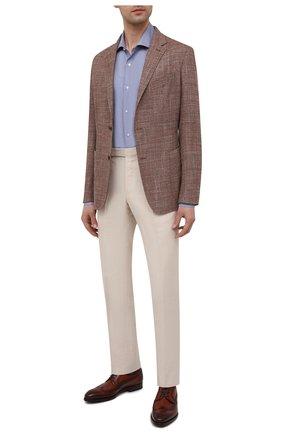 Мужские кожаные дерби MAGNANNI коричневого цвета, арт. 21150/WIND | Фото 2