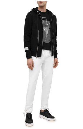 Мужские кожаные кеды MAGNANNI черного цвета, арт. 22444/RUG0 | Фото 2