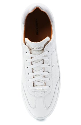 Мужские кожаные кеды MAGNANNI белого цвета, арт. 22444/RUG0   Фото 5 (Материал внутренний: Натуральная кожа; Подошва: Массивная)