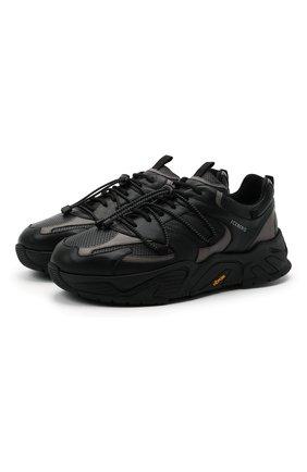 Мужские кожаные кроссовки ICEBERG черного цвета, арт. NIU1404A/SETA C0L0R | Фото 1