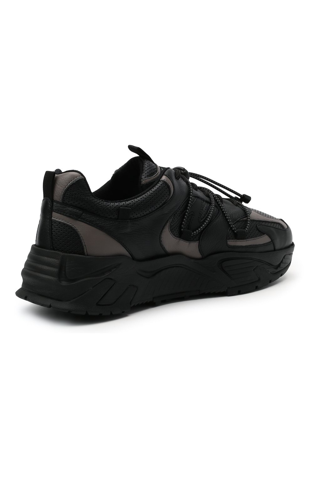 Мужские кожаные кроссовки ICEBERG черного цвета, арт. NIU1404A/SETA C0L0R | Фото 4