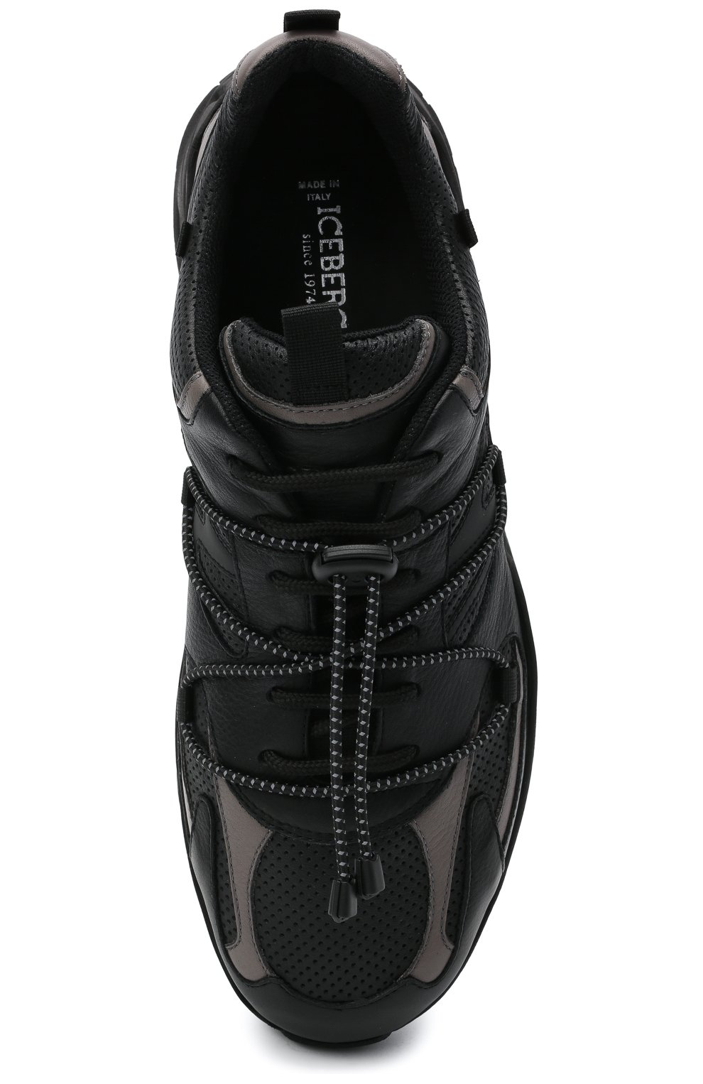 Мужские кожаные кроссовки ICEBERG черного цвета, арт. NIU1404A/SETA C0L0R | Фото 5