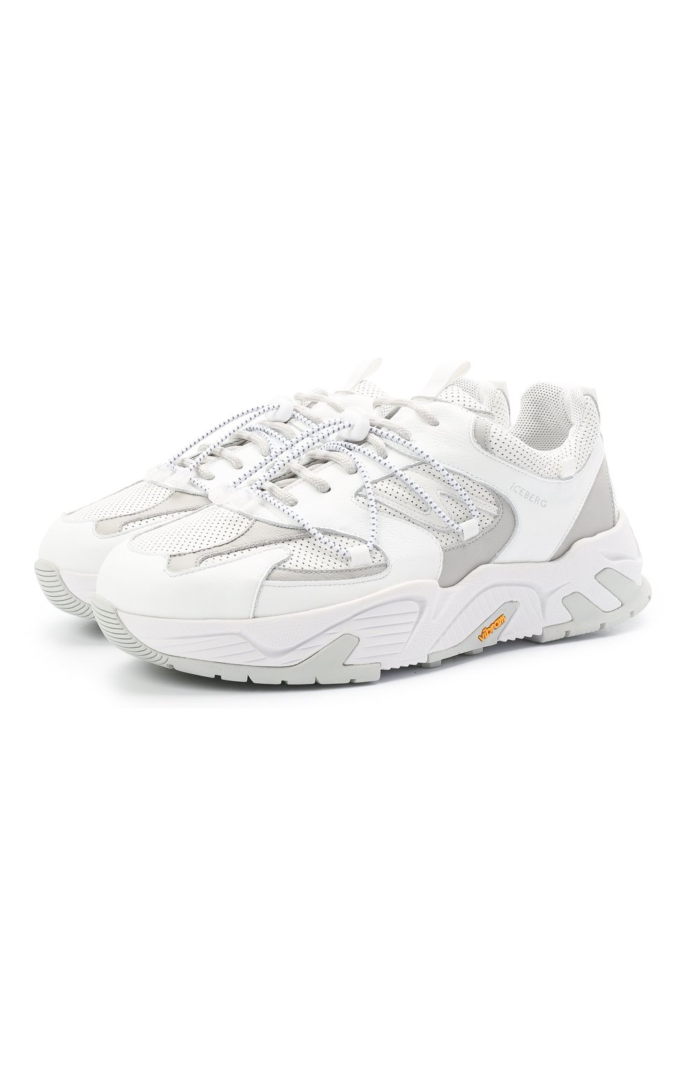 Мужские кожаные кроссовки ICEBERG белого цвета, арт. NIU1404A/SETA C0L0R | Фото 1