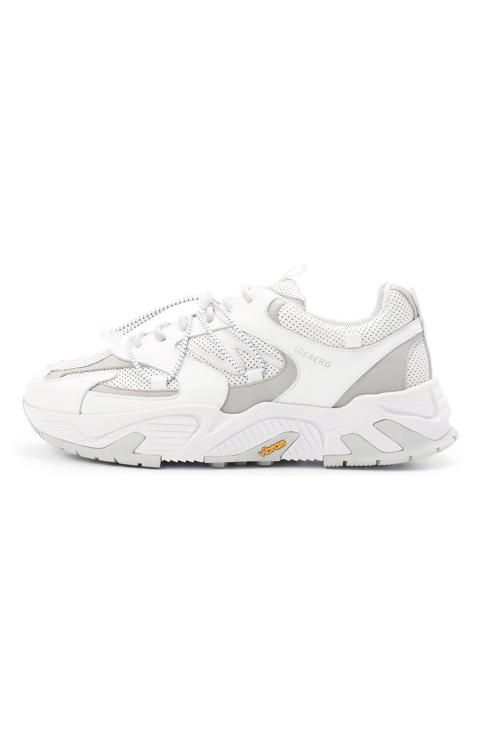 Мужские кожаные кроссовки ICEBERG белого цвета, арт. NIU1404A/SETA C0L0R | Фото 3