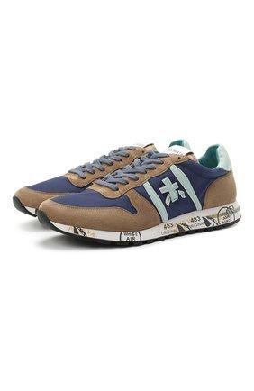 Мужские комбинированные кроссовки eric PREMIATA разноцветного цвета, арт. ERIC/VAR5171   Фото 1