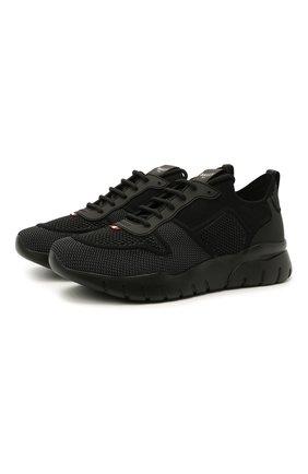 Мужские комбинированные кроссовки bieny BALLY черного цвета, арт. BIENY-T/00 | Фото 1 (Материал внутренний: Текстиль; Материал внешний: Текстиль; Стили: Спорт; Подошва: Массивная)