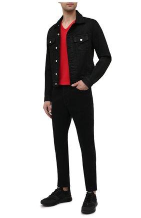 Мужские комбинированные кроссовки bieny BALLY черного цвета, арт. BIENY-T/00 | Фото 2 (Материал внутренний: Текстиль; Материал внешний: Текстиль; Стили: Спорт; Подошва: Массивная)