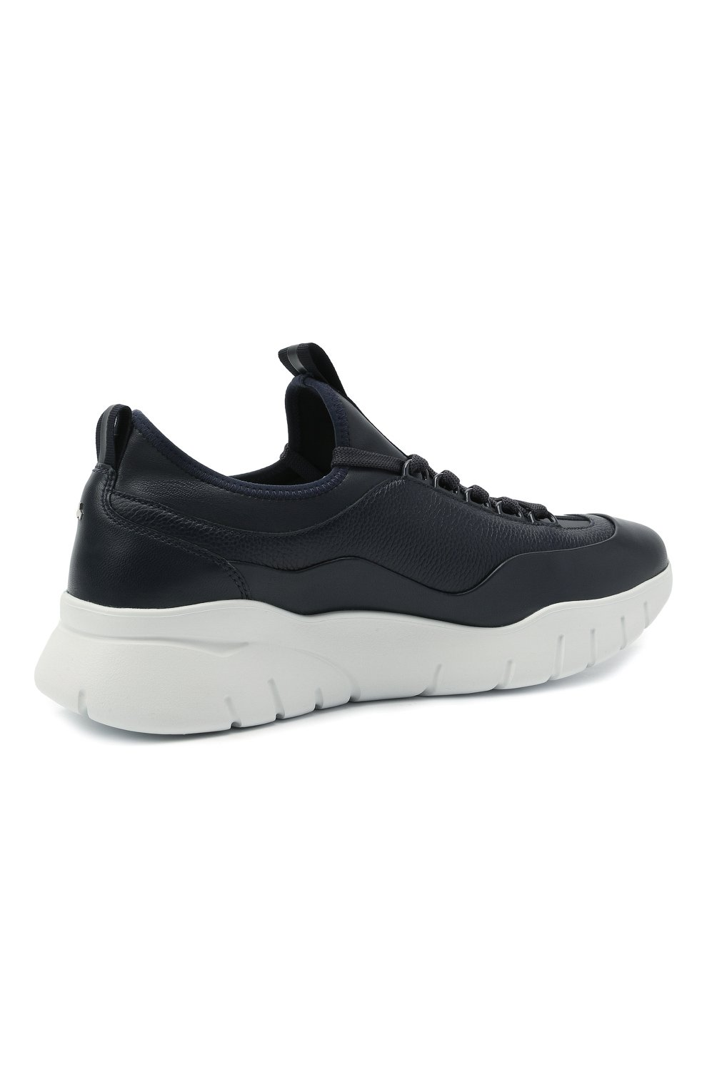 Мужские кожаные кроссовки bikki BALLY темно-синего цвета, арт. BIKKI/29   Фото 4 (Материал внешний: Кожа; Материал внутренний: Натуральная кожа; Стили: Классический; Подошва: Массивная)