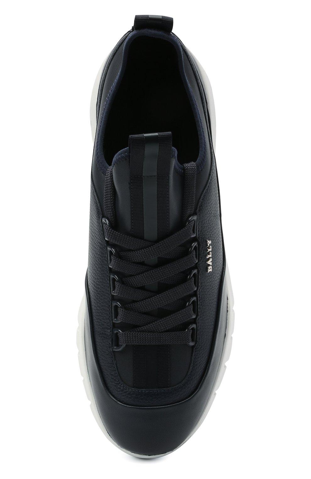 Мужские кожаные кроссовки bikki BALLY темно-синего цвета, арт. BIKKI/29   Фото 5 (Материал внешний: Кожа; Материал внутренний: Натуральная кожа; Стили: Классический; Подошва: Массивная)