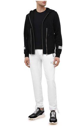 Мужские комбинированные кроссовки JACOB COHEN черного цвета, арт. NEW SPIRID0N-94002 | Фото 2 (Материал внутренний: Натуральная кожа; Подошва: Массивная; Стили: Спорт)
