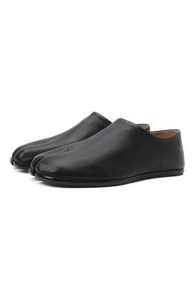 Мужские кожаные слиперы tabi MAISON MARGIELA черного цвета, арт. S57WR0113/P3962 | Фото 1 (Стили: Кэжуэл; Материал внутренний: Натуральная кожа, Текстиль)