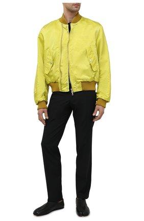 Мужские кожаные слиперы tabi MAISON MARGIELA черного цвета, арт. S57WR0113/P3962 | Фото 2 (Стили: Кэжуэл; Материал внутренний: Натуральная кожа, Текстиль)