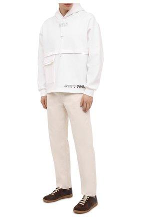 Мужские кожаные кеды replica MAISON MARGIELA темно-коричневого цвета, арт. S57WS0236/P1895 | Фото 2