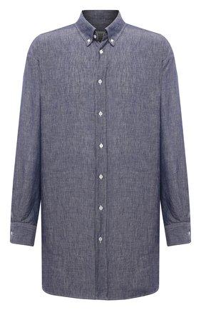 Мужская льняная рубашка MAISON MARGIELA синего цвета, арт. S50DL0469/S53726 | Фото 1