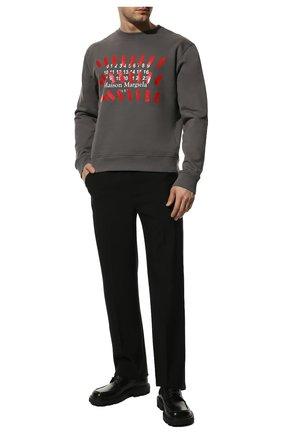 Мужской хлопковый свитшот MAISON MARGIELA серого цвета, арт. S30GU0149/S25503 | Фото 2