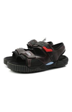 Мужские комбинированные сандалии odsy OFF-WHITE черного цвета, арт. 0MIH001S21FAB0011035 | Фото 1 (Материал внутренний: Текстиль)