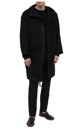 Мужские брюки TRANSIT черного цвета, арт. CFUTRNF150 | Фото 2