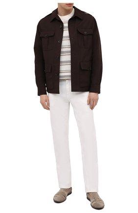 Мужская куртка из хлопка и льна RALPH LAUREN коричневого цвета, арт. 798838200 | Фото 2