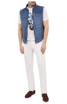 Мужская хлопковая футболка ZILLI белого цвета, арт. MEV-NT270-BUBB1/MC0 | Фото 2 (Материал внешний: Хлопок; Длина (для топов): Стандартные; Рукава: Короткие; Принт: С принтом; Стили: Кэжуэл)