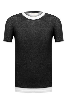 Мужская футболка DANIELE FIESOLI черного цвета, арт. DF 0366/J | Фото 1