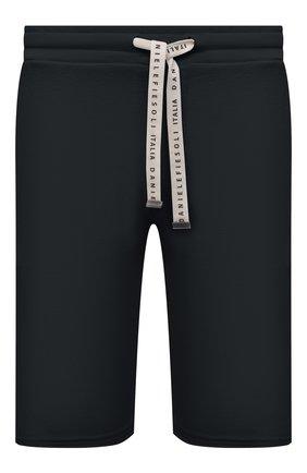 Мужские хлопковые шорты DANIELE FIESOLI темно-серого цвета, арт. DF 7103   Фото 1