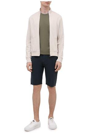 Мужские хлопковые шорты DANIELE FIESOLI темно-серого цвета, арт. DF 7103   Фото 2