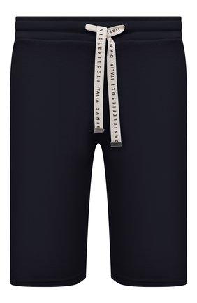 Мужские хлопковые шорты DANIELE FIESOLI темно-синего цвета, арт. DF 7103 | Фото 1 (Материал внешний: Хлопок; Длина Шорты М: До колена; Кросс-КТ: Трикотаж; Принт: Без принта; Стили: Спорт-шик)