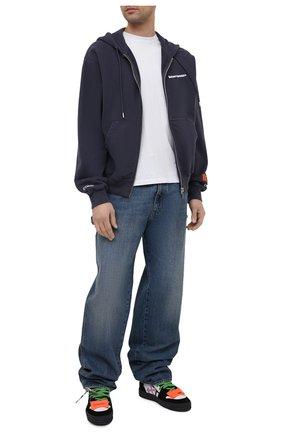 Мужской хлопковая толстовка HERON PRESTON серого цвета, арт. HMBE007S21JER0010701 | Фото 2 (Рукава: Длинные; Мужское Кросс-КТ: Толстовка-одежда; Длина (для топов): Стандартные; Материал внешний: Хлопок; Стили: Гранж)