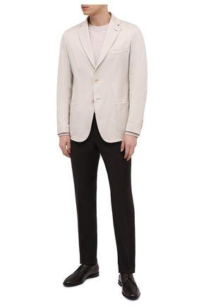 Мужские кожаные дерби ZILLI коричневого цвета, арт. MDT-B065/003 | Фото 2 (Материал внешний: Кожа; Материал внутренний: Натуральная кожа; Стили: Классический)