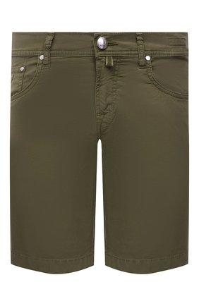 Мужские джинсовые шорты JACOB COHEN хаки цвета, арт. J6636 C0MF 06510-V/55 | Фото 1 (Длина Шорты М: До колена; Материал внешний: Хлопок; Кросс-КТ: Деним; Принт: Без принта; Стили: Кэжуэл)