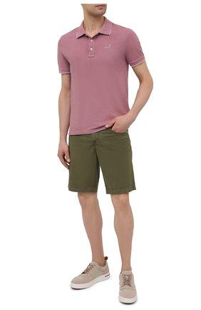 Мужские джинсовые шорты JACOB COHEN хаки цвета, арт. J6636 C0MF 06510-V/55 | Фото 2 (Длина Шорты М: До колена; Материал внешний: Хлопок; Кросс-КТ: Деним; Принт: Без принта; Стили: Кэжуэл)