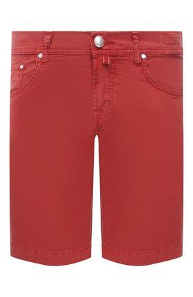 Мужские джинсовые шорты JACOB COHEN красного цвета, арт. J6636 C0MF 06510-V/55   Фото 1
