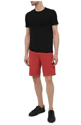 Мужская хлопковая футболка JACOB COHEN черного цвета, арт. J4106 01107-S/55 | Фото 2 (Рукава: Короткие; Принт: С принтом; Материал внешний: Хлопок; Длина (для топов): Стандартные; Стили: Кэжуэл)