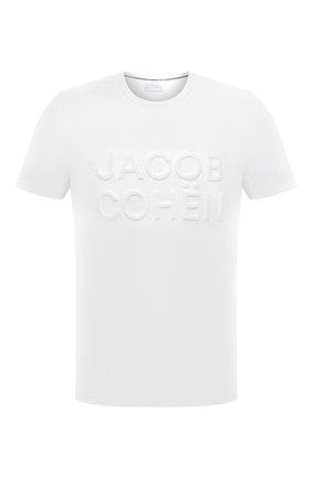 Мужская хлопковая футболка JACOB COHEN белого цвета, арт. J4106 01107-S/55 | Фото 1