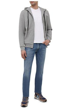 Мужская хлопковая футболка JACOB COHEN белого цвета, арт. J4106 01107-S/55 | Фото 2