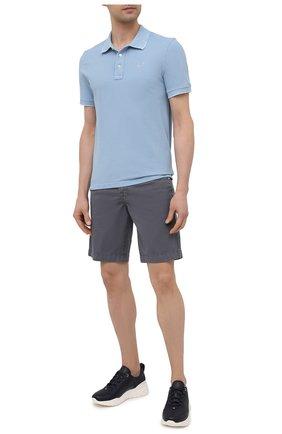 Мужское хлопковое поло JACOB COHEN голубого цвета, арт. J4037 00188-V/55 | Фото 2
