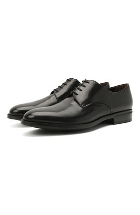 Мужские кожаные дерби MORESCHI черного цвета, арт. 90042362P0001/C0RK | Фото 1
