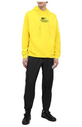 Мужской хлопковое худи PHARMACY INDUSTRY желтого цвета, арт. PHM200 | Фото 2