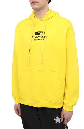 Мужской хлопковое худи PHARMACY INDUSTRY желтого цвета, арт. PHM200 | Фото 3