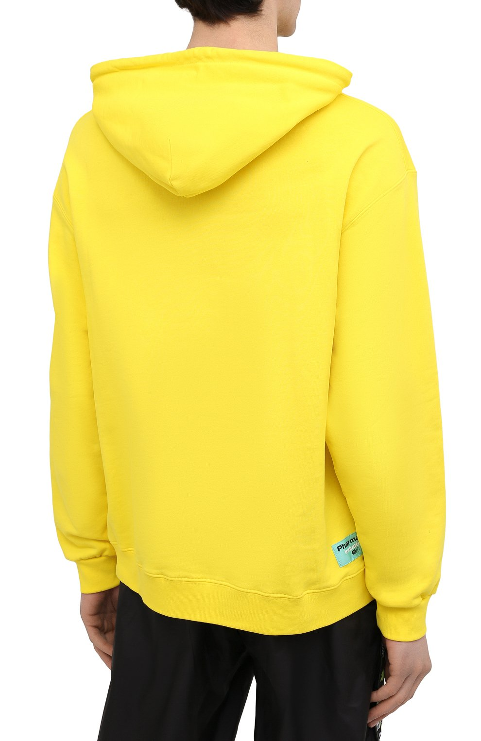 Мужской хлопковое худи PHARMACY INDUSTRY желтого цвета, арт. PHM200 | Фото 4