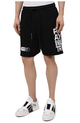 Мужские хлопковые шорты PHARMACY INDUSTRY черно-белого цвета, арт. PHM206 | Фото 3