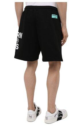 Мужские хлопковые шорты PHARMACY INDUSTRY черно-белого цвета, арт. PHM206 | Фото 4