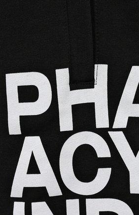 Мужские хлопковые шорты PHARMACY INDUSTRY черно-белого цвета, арт. PHM206 | Фото 5