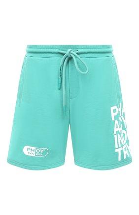 Мужские хлопковые шорты PHARMACY INDUSTRY светло-зеленого цвета, арт. PHM206 | Фото 1