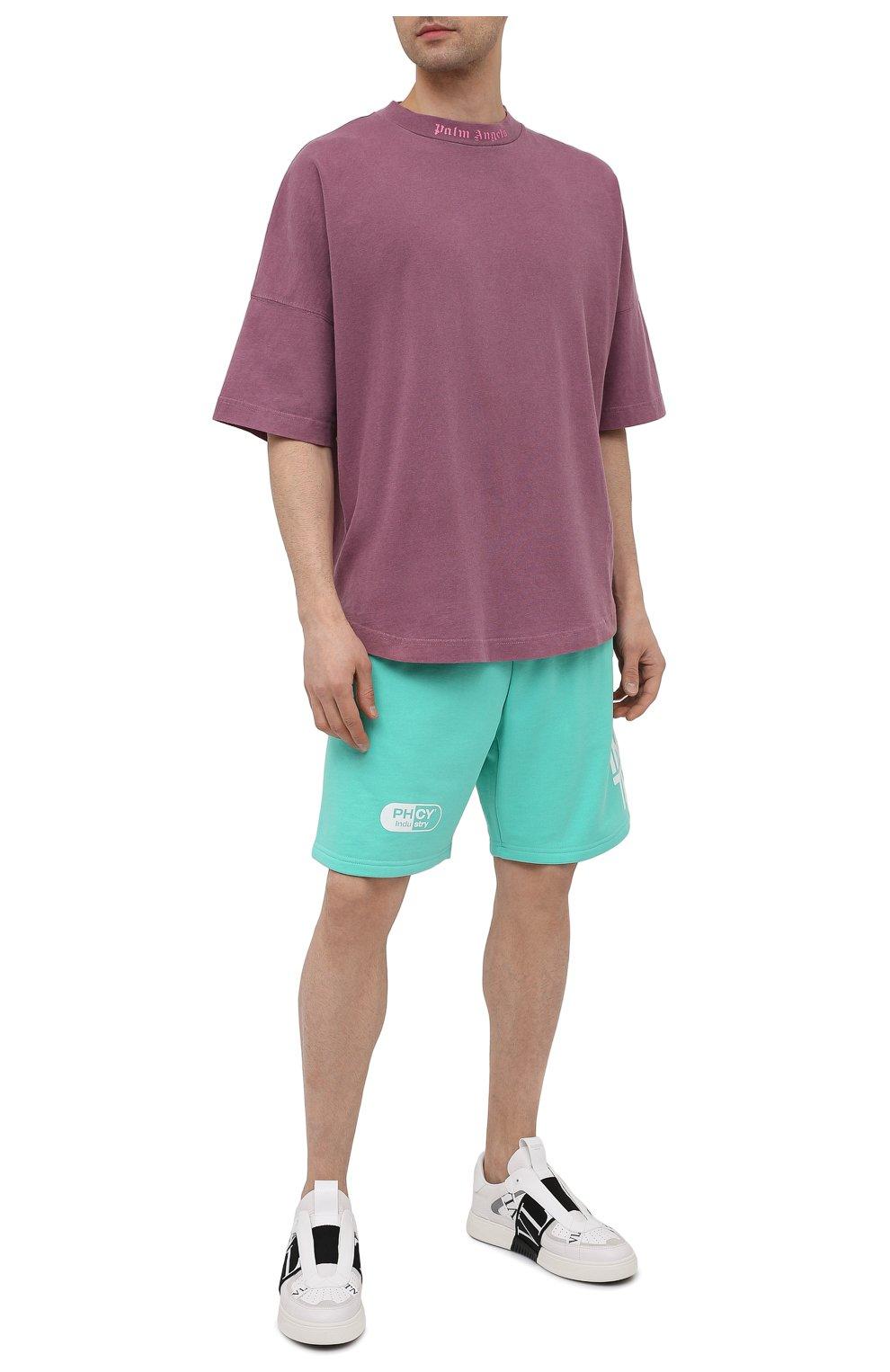Мужские хлопковые шорты PHARMACY INDUSTRY бирюзового цвета, арт. PHM206 | Фото 2