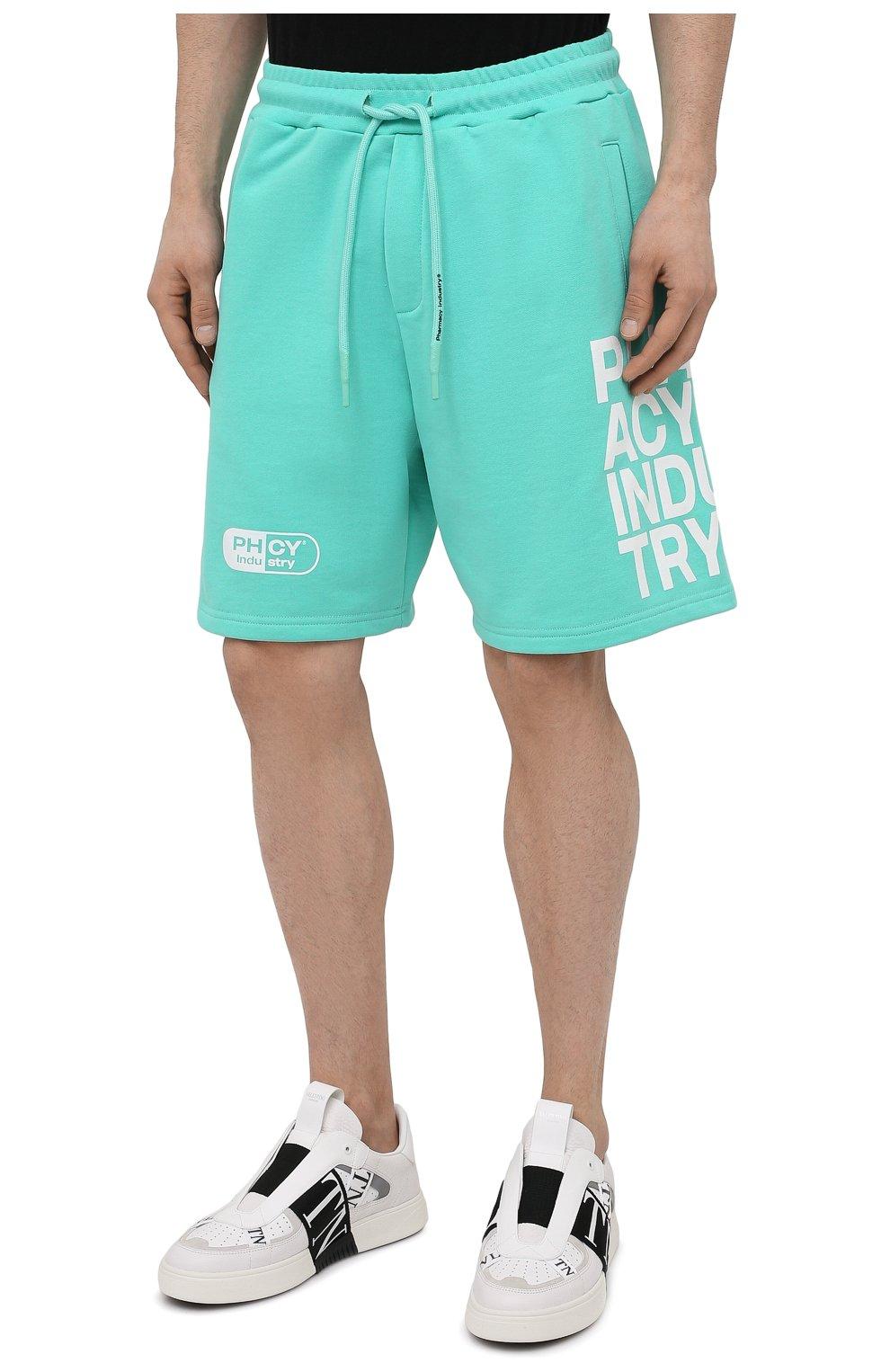 Мужские хлопковые шорты PHARMACY INDUSTRY бирюзового цвета, арт. PHM206 | Фото 3