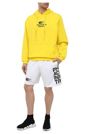 Мужские хлопковые шорты PHARMACY INDUSTRY белого цвета, арт. PHM206 | Фото 2