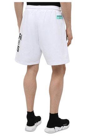 Мужские хлопковые шорты PHARMACY INDUSTRY белого цвета, арт. PHM206 | Фото 4