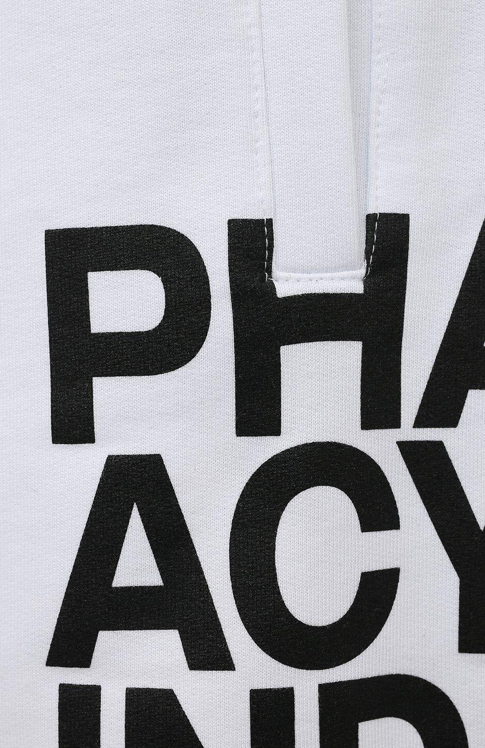 Мужские хлопковые шорты PHARMACY INDUSTRY белого цвета, арт. PHM206 | Фото 5